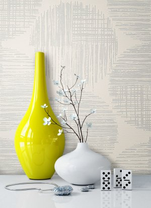 Tapete Vlies Metallic Vase