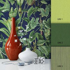 Blumetapete Grün