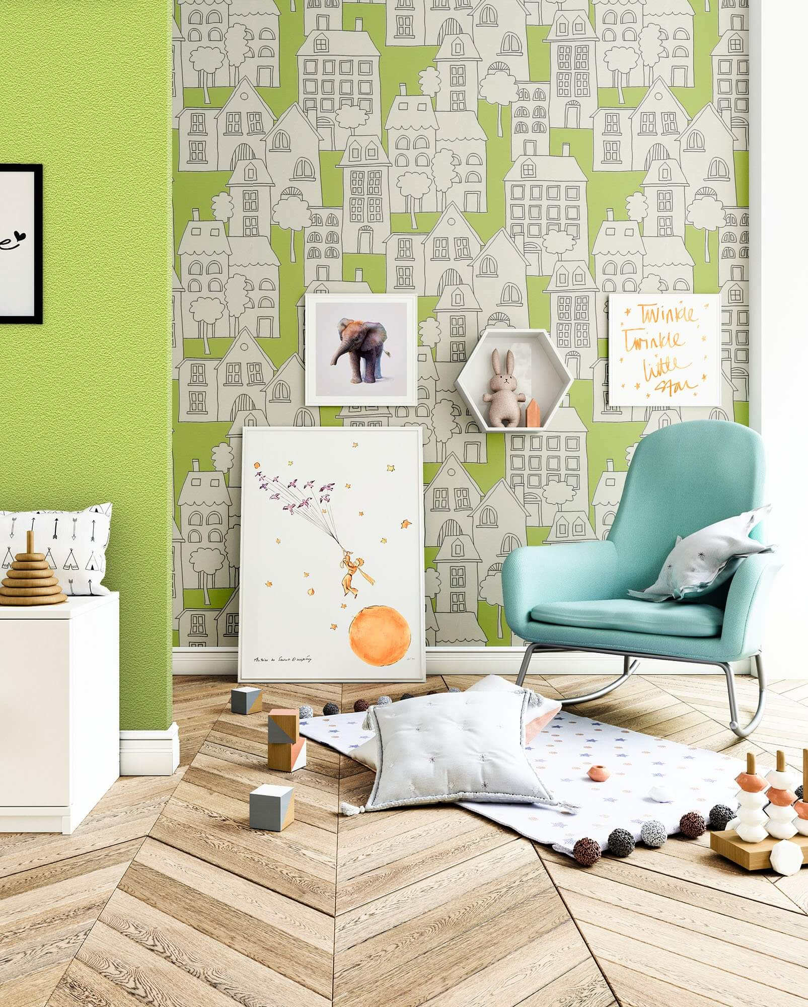 chiraand kinder baby tapeten. Black Bedroom Furniture Sets. Home Design Ideas