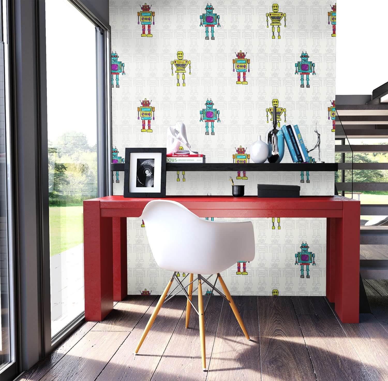 robot white. Black Bedroom Furniture Sets. Home Design Ideas