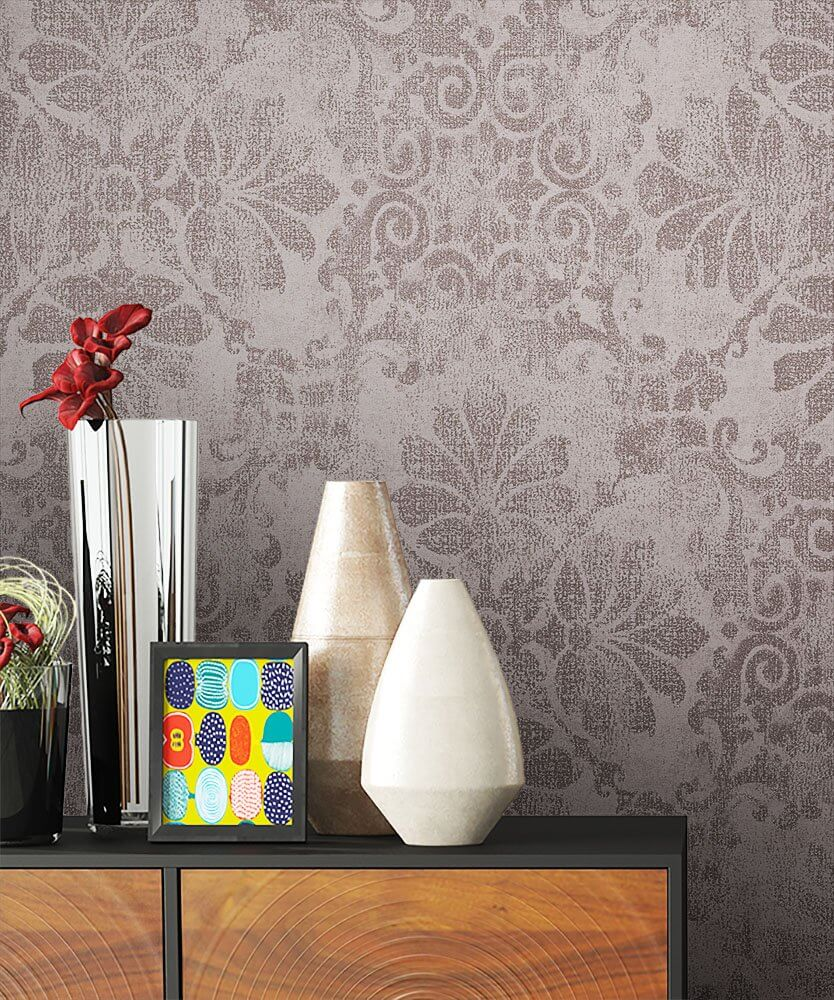 Tapete Und Stoff Gleiches Muster. Beautiful Vorhang Design U In ...