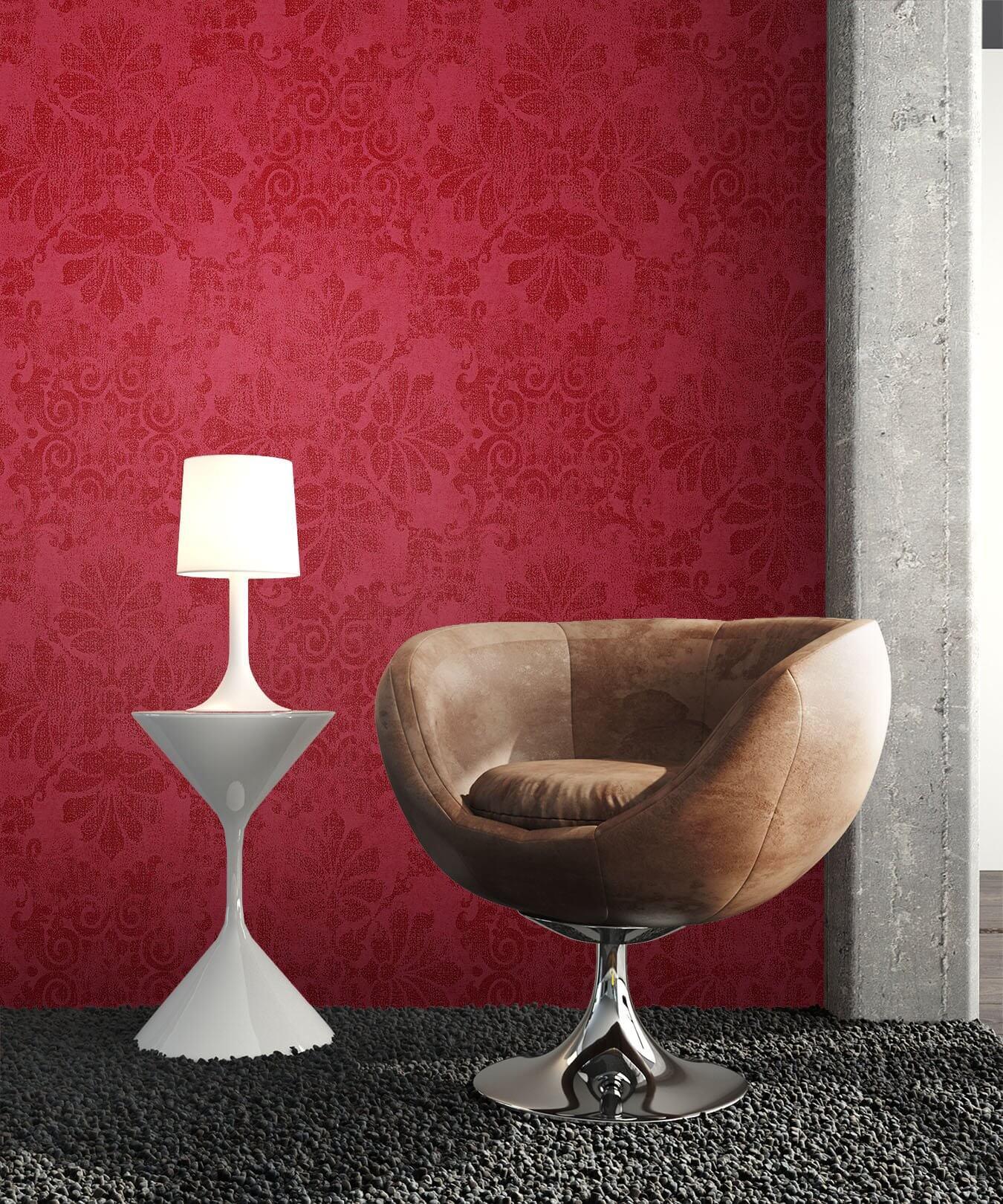 vliestapete metallic barock ornament b ro diele flur kinder schlafen wohnen newroom. Black Bedroom Furniture Sets. Home Design Ideas
