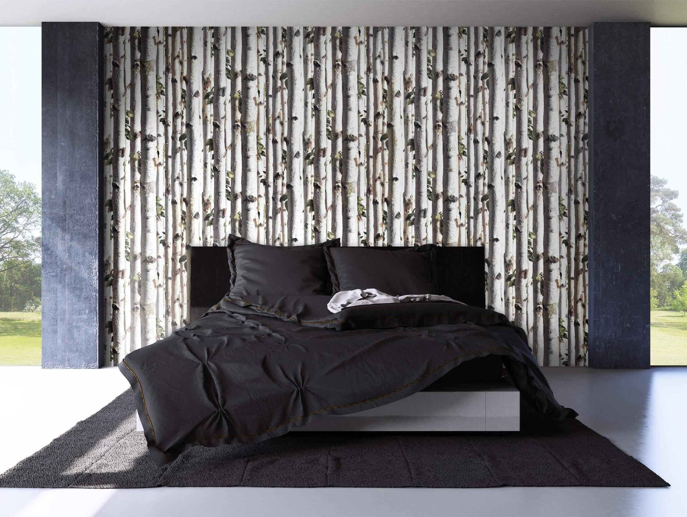 vliestapete braun landhaus birke holz newroom. Black Bedroom Furniture Sets. Home Design Ideas