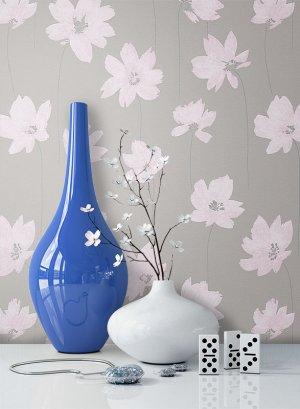 Tapete Vlies Blumen Natur Muster Deko