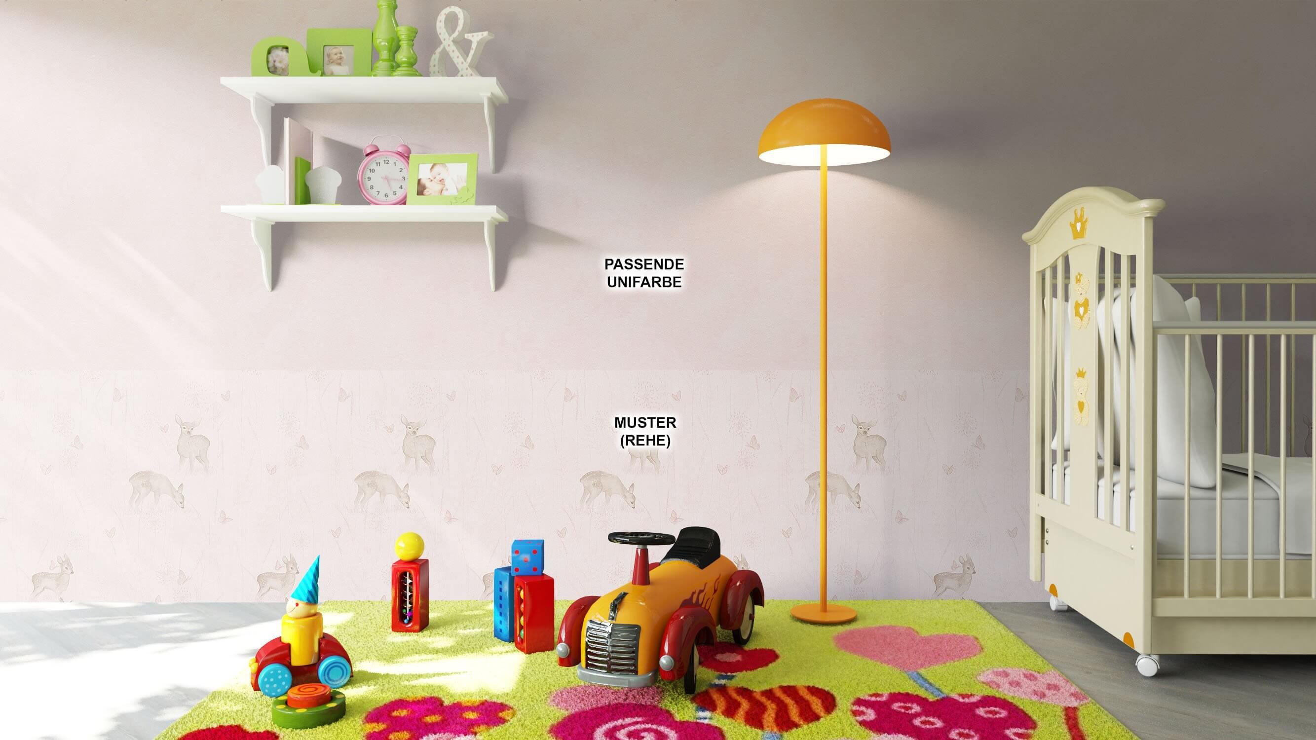 ... Tapete Kinder Kinderzimmer Rosa Creme Braun Deko ...