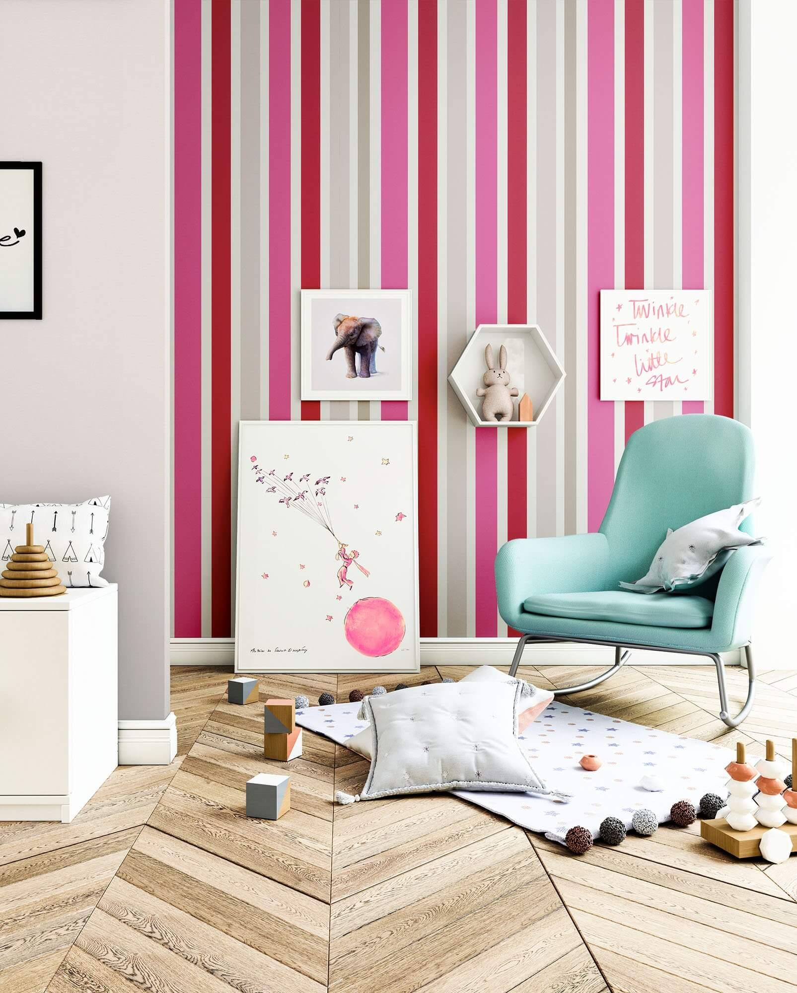vliestapete pink modern diele flur kinder k che schlafen wohnen newroom. Black Bedroom Furniture Sets. Home Design Ideas