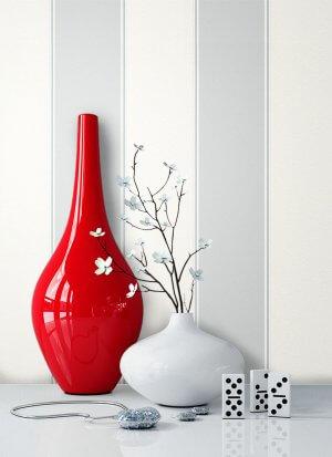 Tapete Grau Weiß Streifen Muster Deko