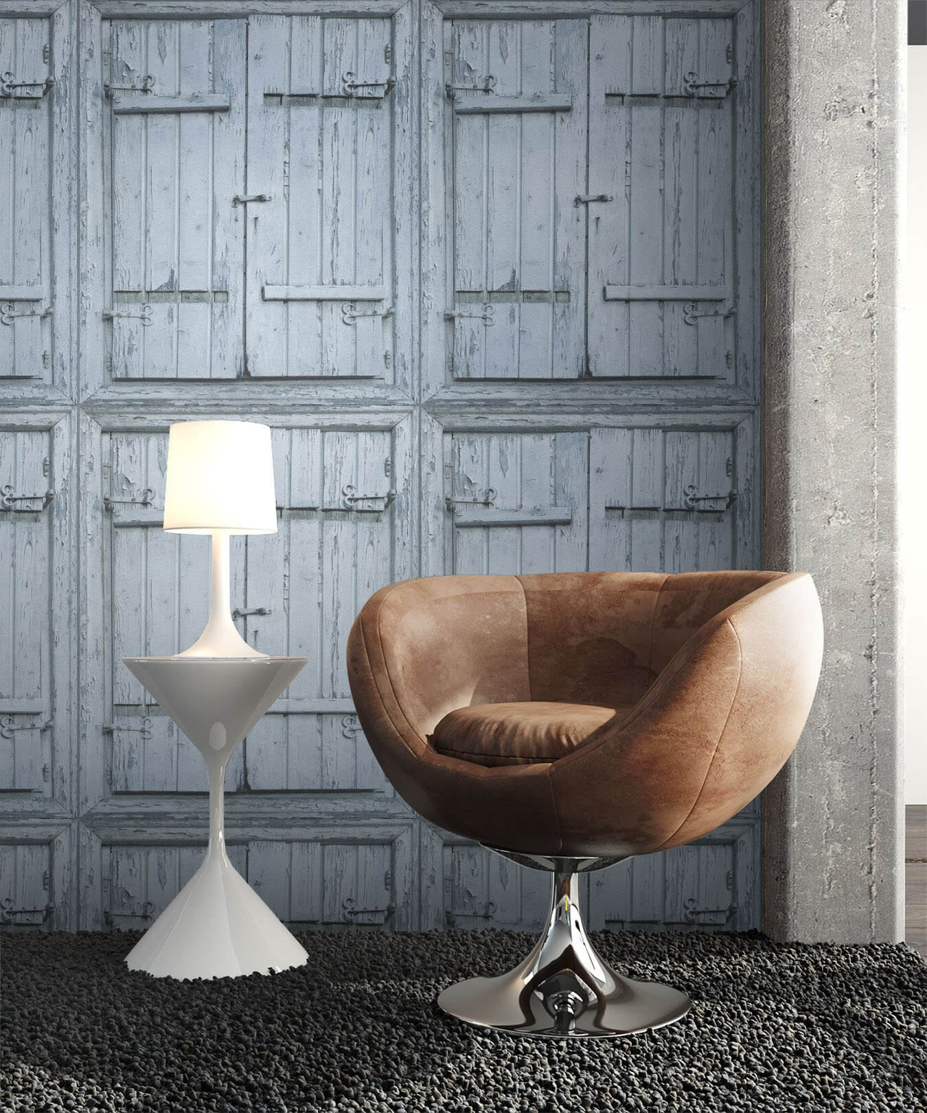 vliestapete blau landhaus holzbalken holz wohnen schlafen k che diele newroom. Black Bedroom Furniture Sets. Home Design Ideas