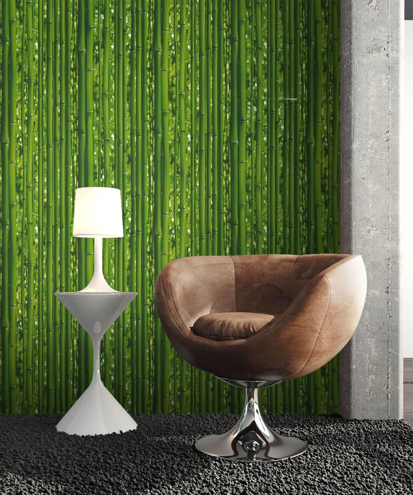... Tapete Grün Bambus Deko