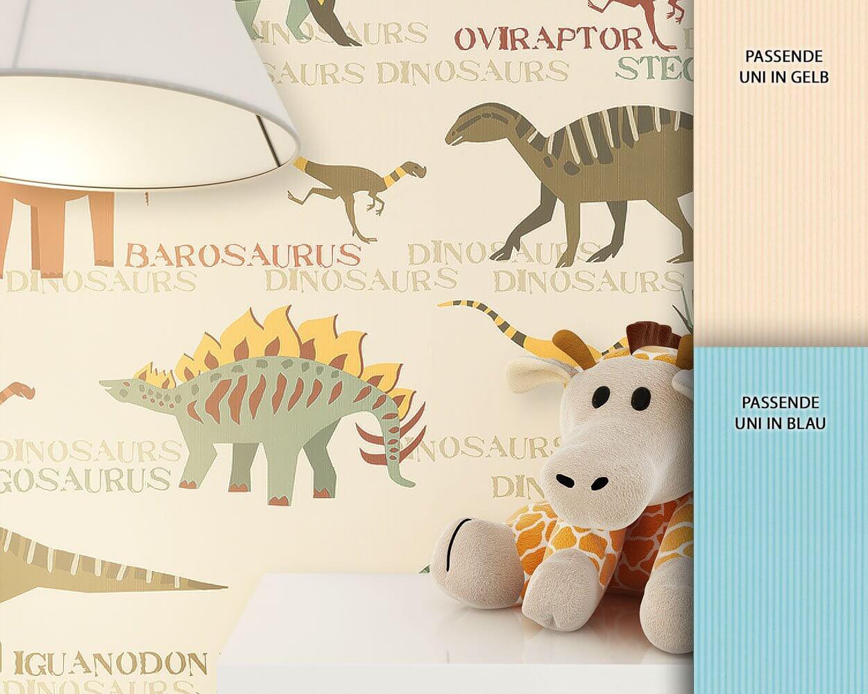 Tapete kinderzimmer tiere  Papiertapete - Beige - Modern - - Tiere - Kinder - newroom