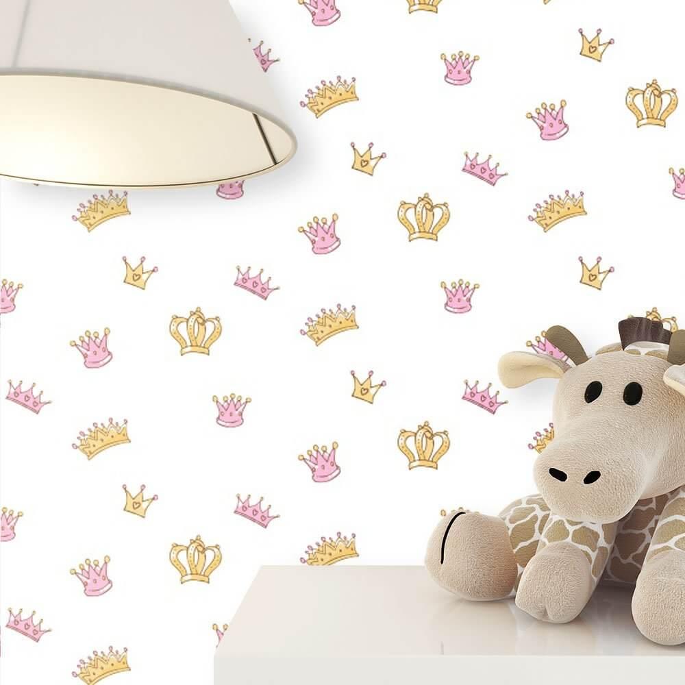 vliestapete wei kinder krone kinderzimmer newroom. Black Bedroom Furniture Sets. Home Design Ideas