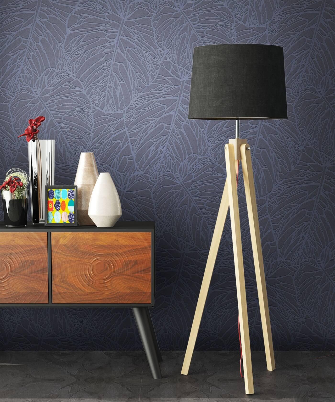 vliestapete grau floral wohnen schlafen diele. Black Bedroom Furniture Sets. Home Design Ideas
