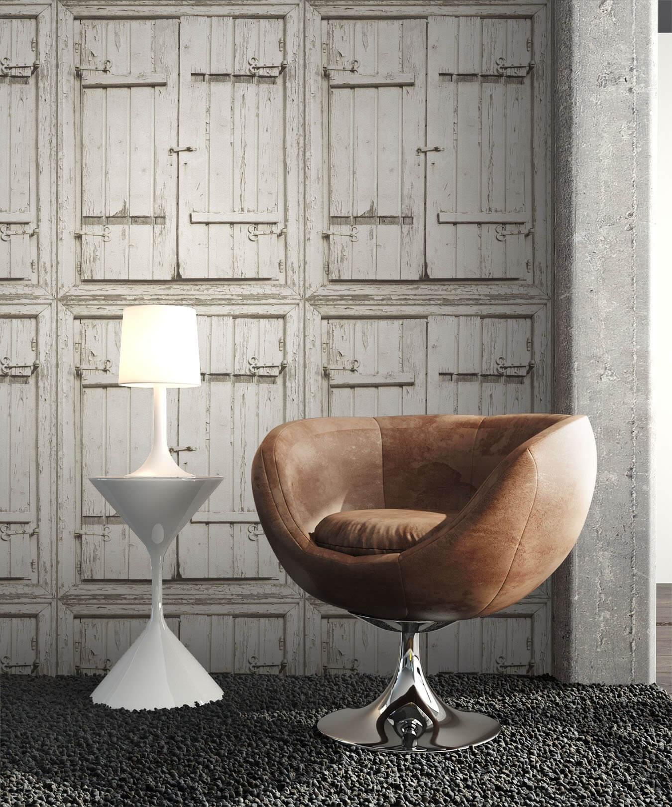 ... Tapete Holz Optik Landhaus Dekoration