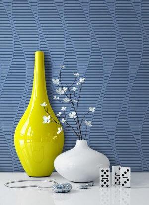 Tapete Vlies Blau Grafik Dekoration