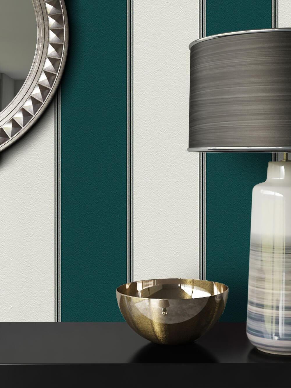 vliestapete gr n grafik diele flur schlafen. Black Bedroom Furniture Sets. Home Design Ideas