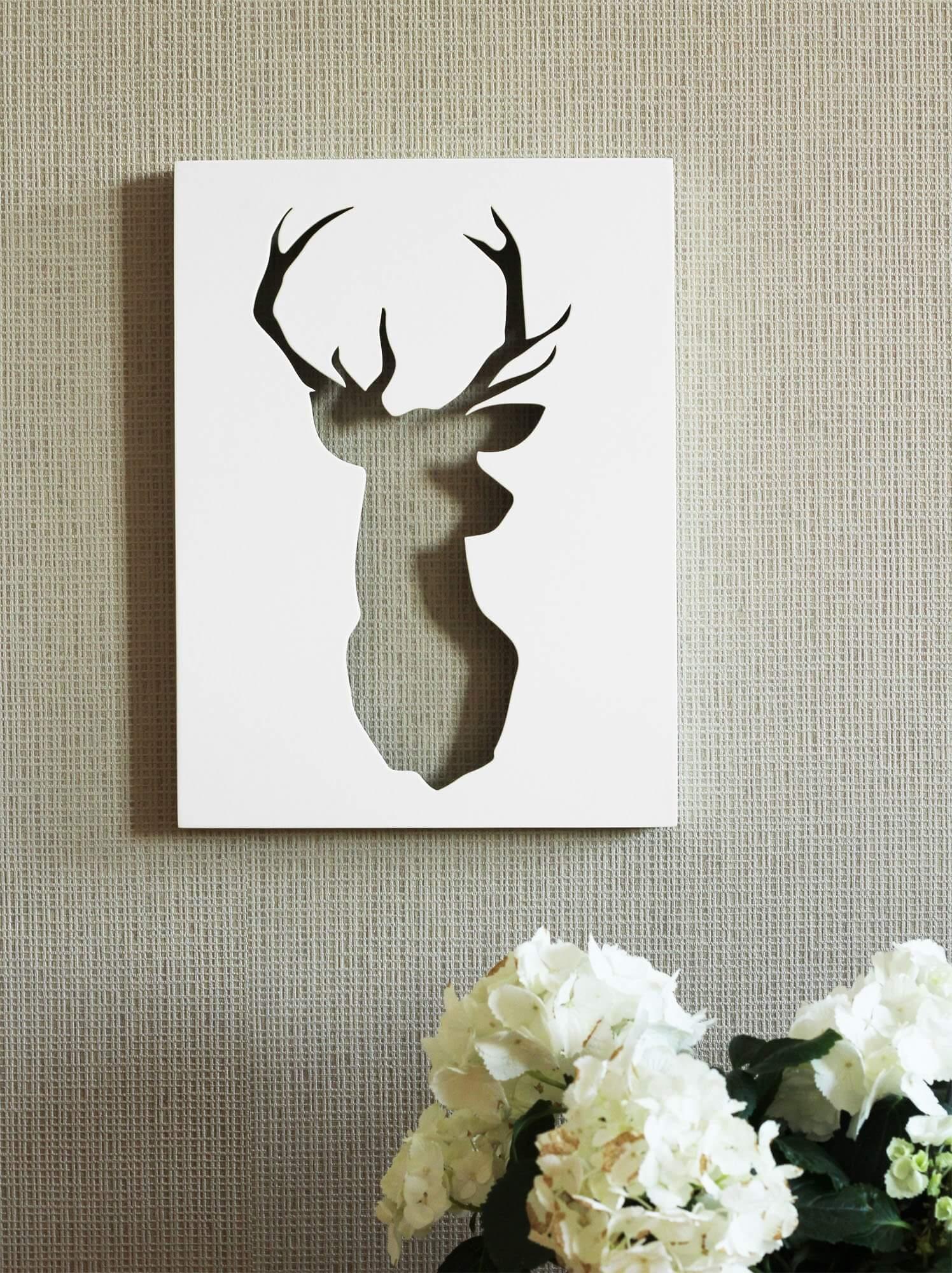 deko wandbild hirsch. Black Bedroom Furniture Sets. Home Design Ideas
