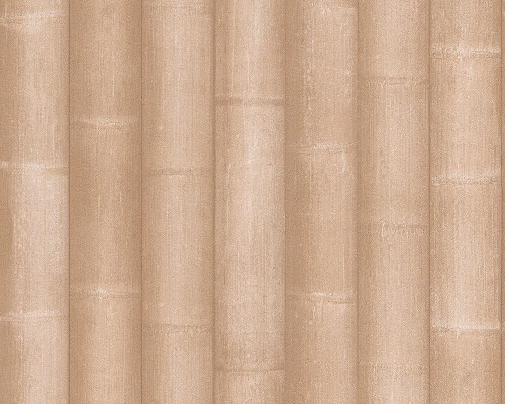 vliestapete beige landhaus bambus streifen bad b ro k che schlafen wohnen newroom. Black Bedroom Furniture Sets. Home Design Ideas