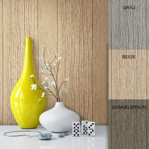 Tapete Holz Holzwand Beige Deko Braun Grau
