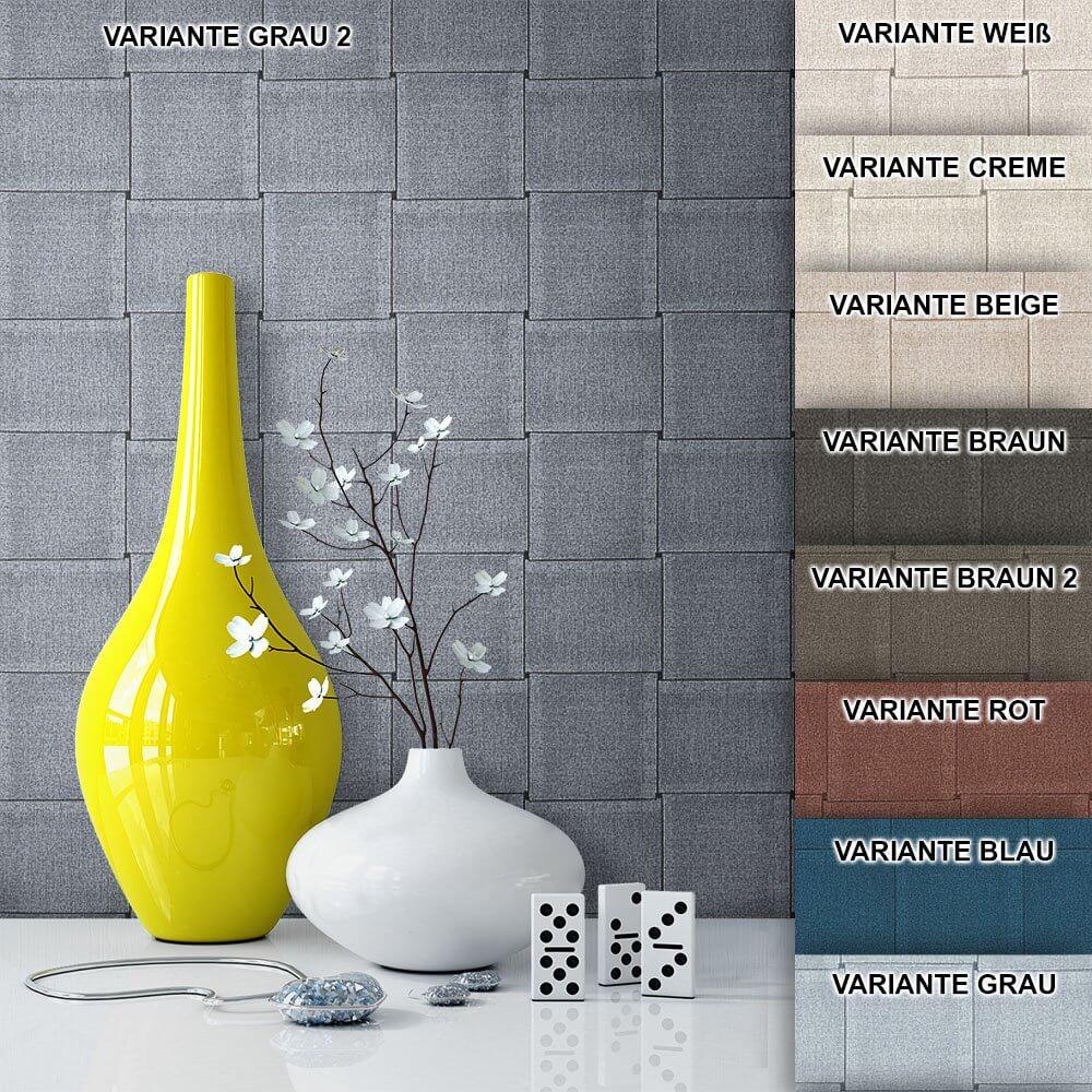 ... Tapete Vlies Landhaus Grafik Muster Deko Grau ...