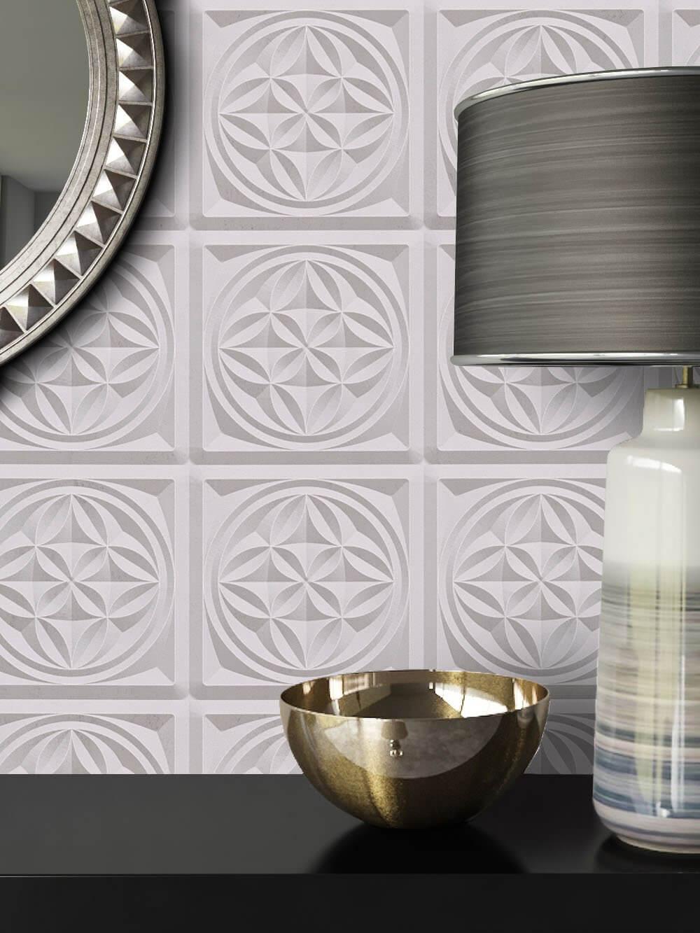 vliestapete grau grafik b ro diele flur k che schlafen wohnen newroom. Black Bedroom Furniture Sets. Home Design Ideas
