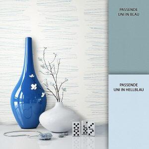Tapete Vlies Modern Blau Deko