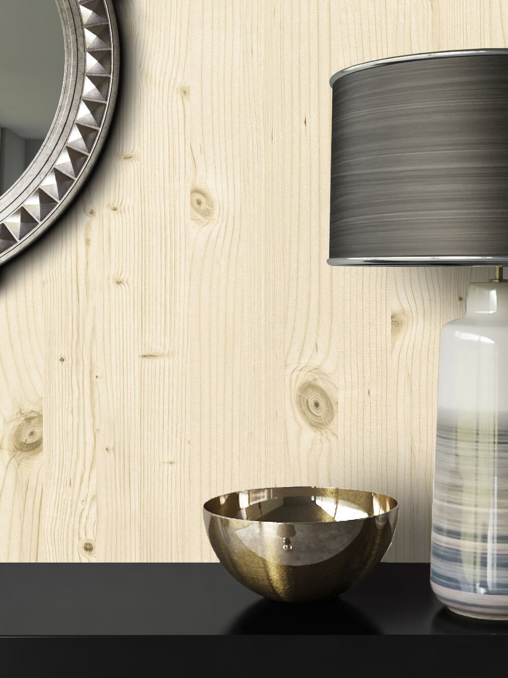 ... Tapete Holz Optik Dekoration