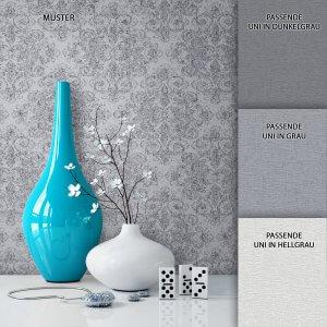 Tapete Vlies Neo-Klassik Muster Deko Grau