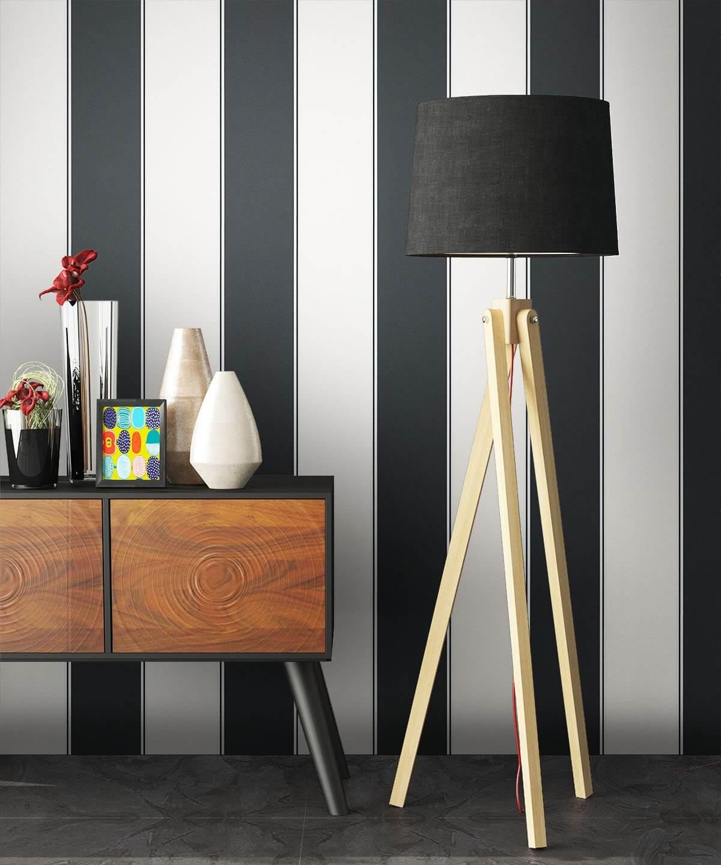 tapete schwarz wei streifen muster deko - Tapete Schwarz Weis Muster