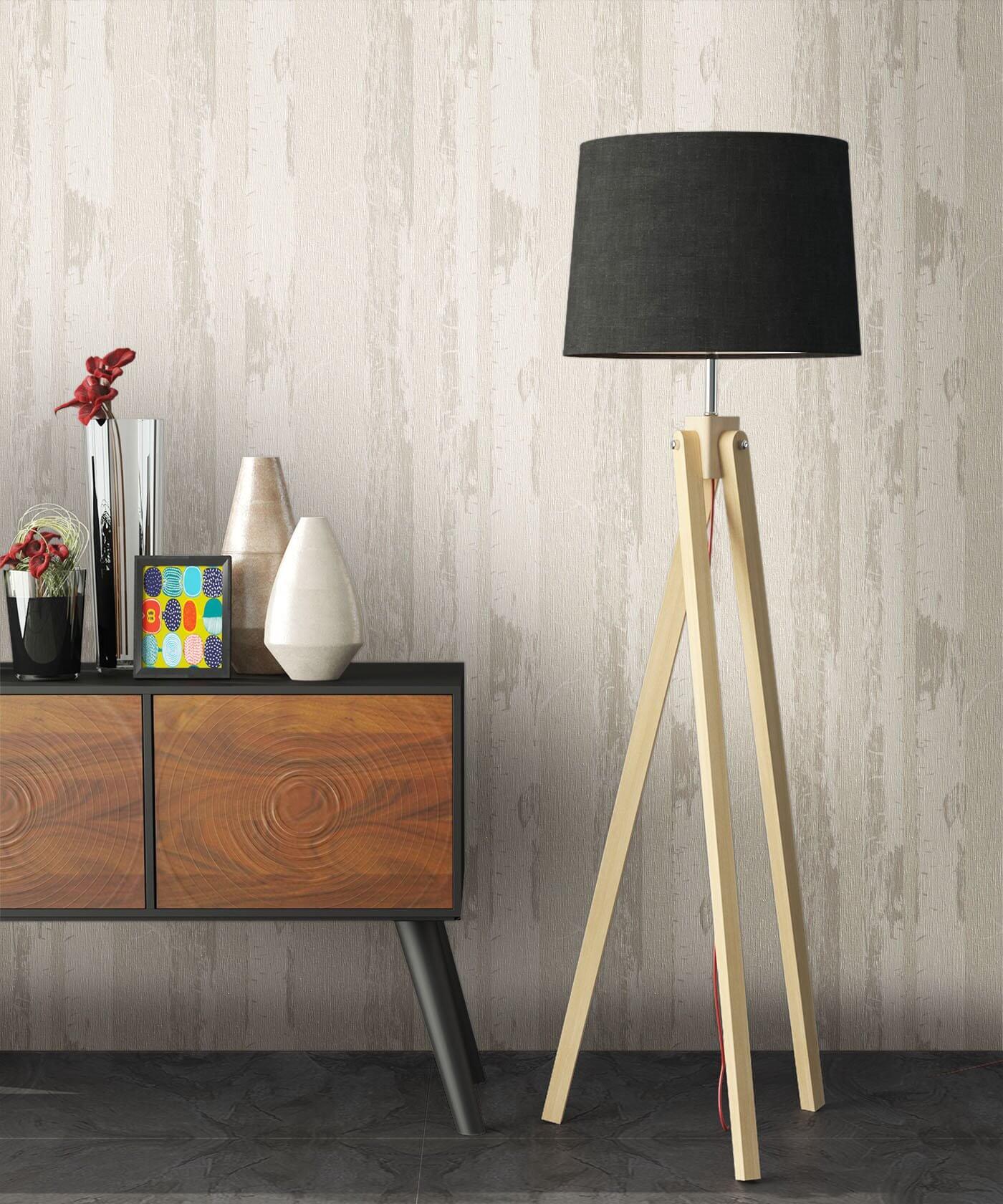 vliestapete creme landhaus holzst mme b ume. Black Bedroom Furniture Sets. Home Design Ideas