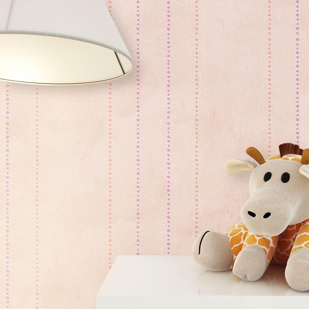 ... Tapete Kinder Kinderzimmer Rosa Beige Deko Streifen ...