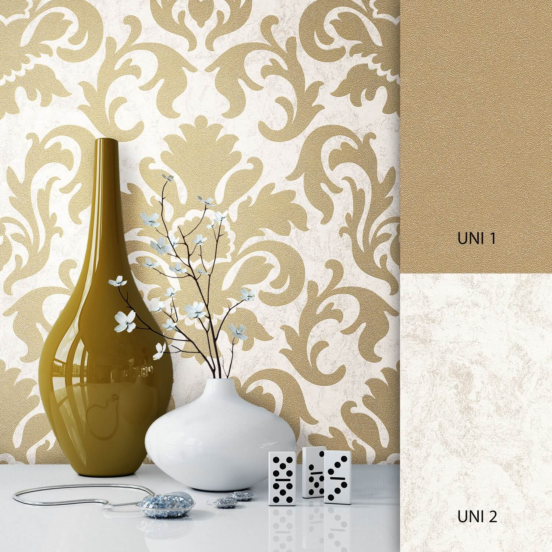 Vliestapete Gold Deco Muster Barock Newroom