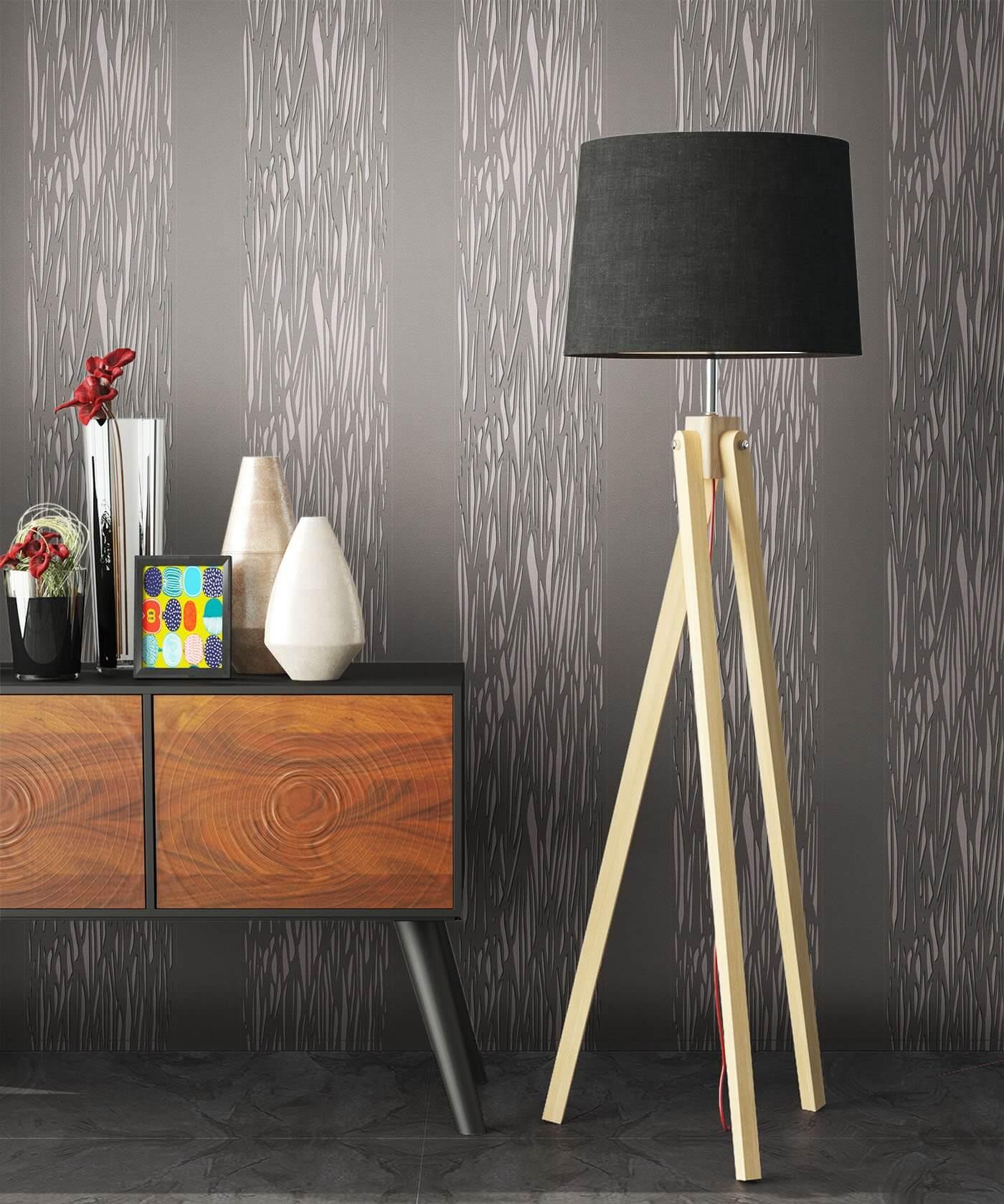 vliestapete grau grafisch wohnen kinder schlafen k che diele bad newroom. Black Bedroom Furniture Sets. Home Design Ideas