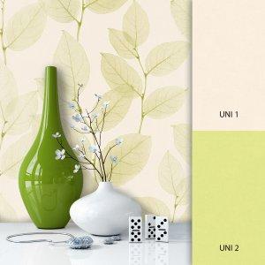 Blumentapete Beige Grün