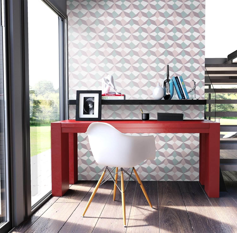 vliestapete lila grafik b ro diele flur k che schlafen wohnen newroom. Black Bedroom Furniture Sets. Home Design Ideas