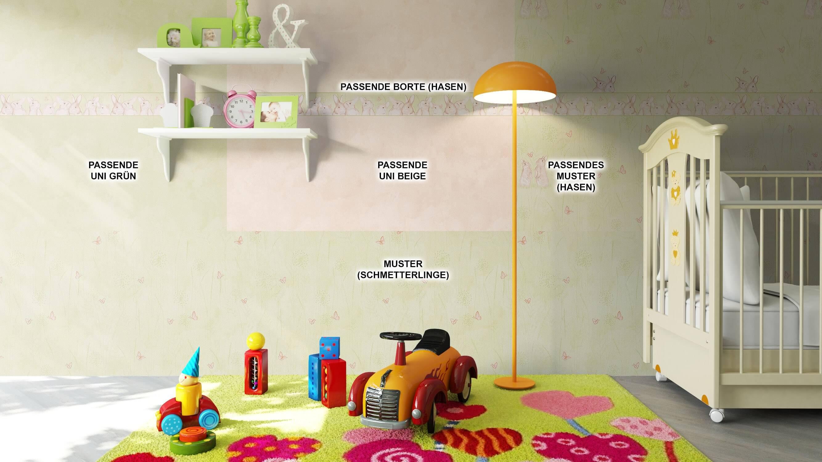 ... Tapete Kinder Kinderzimmer Grün Braun Beige Deko ...