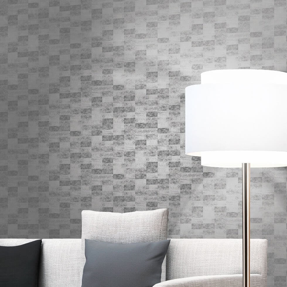 silber tapete wohndesign. Black Bedroom Furniture Sets. Home Design Ideas