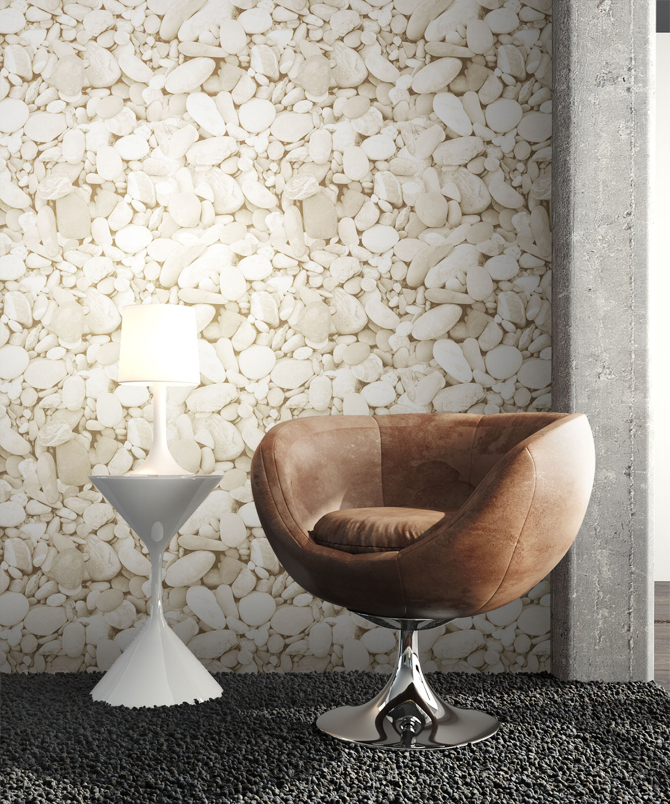 Newroom steintapete beige jung modern vlies beige 3d optik - Steintapete beige ...