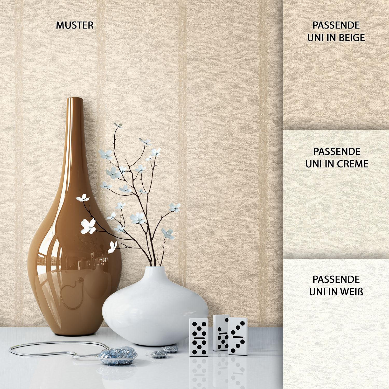 Newroom tapete beige landhaus modern streifen struktur - Tapete landhaus streifen ...