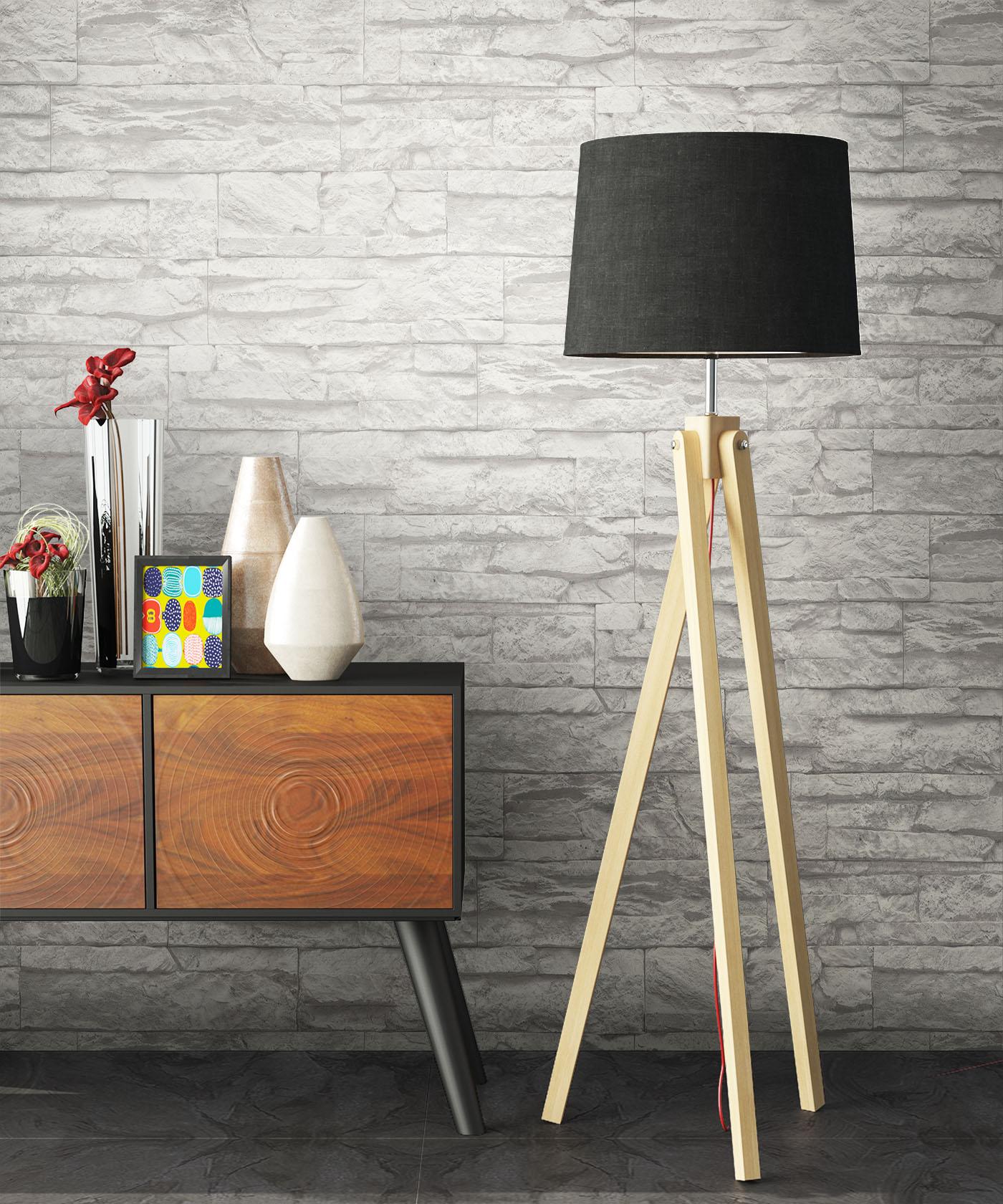 Steintapete grau vlies  NEWROOM Steintapete Grau Modern,Natur Vlies Weiß 3D Optik